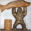 Fishman with cask