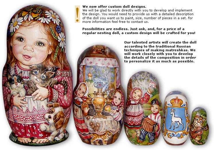 PAINT YOUR OWN RUSSIAN DOLLS Wooden Nesting Doll Nest Set Kids Birthday Toy Gift